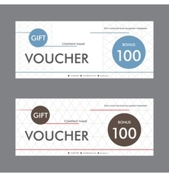 Template design gift voucher with abstract vector