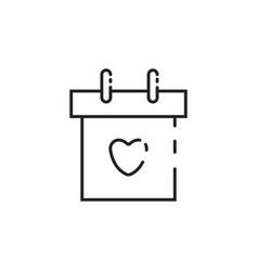 Thin line calendar icon vector
