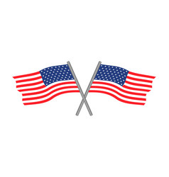 Usa flags logo vector