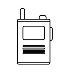 walkie talkie device icon vector image