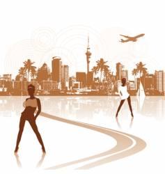 cityscape scene for your design vector image