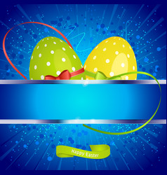 easter festive background with copy space and eggs vector image