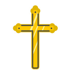 holy cross icon isolated vector image