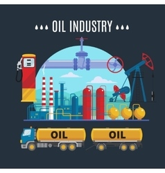 Oil Industry Composition vector image