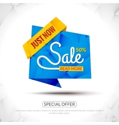 Sale Tags Graphic Elements in Paper Origami style vector image