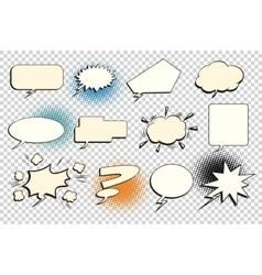 Set comic bubble isolate vector image vector image