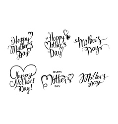 Set of vintage Happy Mothers Day vector image vector image
