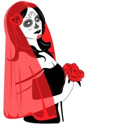 Sugar Skull Lady vector image