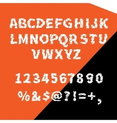alphabet ragged flat for creative use vector image vector image