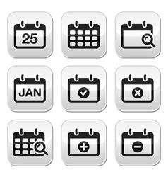 Calendar date buttons set vector image vector image