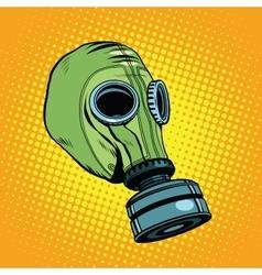 Gas mask vintage rubber green Retro background vector image vector image