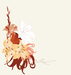lily bouquet design vector image vector image