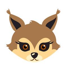 squirrel animal carnival mask brown fluffy bun vector image