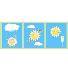 sun works vector image
