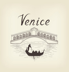 venice famous place view travel italy background vector image