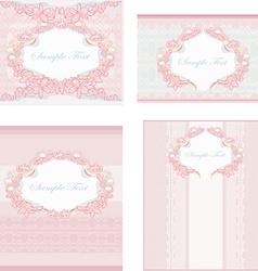 wedding reception card set vector image