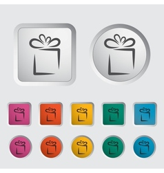 Gift icon 2 vector image
