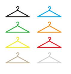 hanger icon flat design style hanger sign vector image vector image