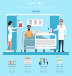 Hospital room services vector