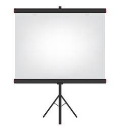 Projector screen black vector image vector image