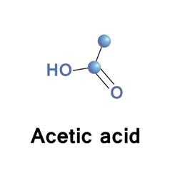 Acetic acid vector image
