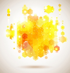Bright and optimistic poster Lush yellow abstract vector image vector image