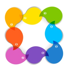 Colorful diagram with eight blank boxes vector image vector image