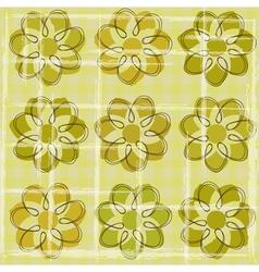 Floral vintage background vector image vector image