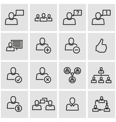 line office people icon set vector image