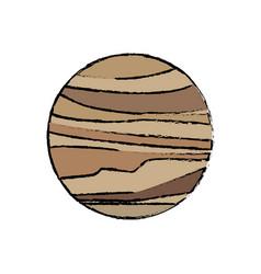 planet venus astronomy universe icon vector image