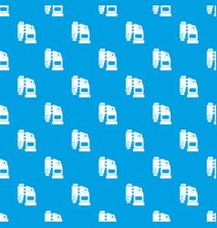 Pneumatic hammer machine pattern seamless blue vector
