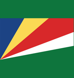 seychelles flag for independence day and vector image vector image