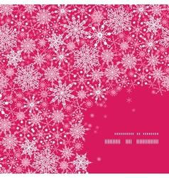 Snowflake Texture Corner Frame Pattern Background vector image
