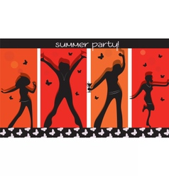 Summer Party People vector image