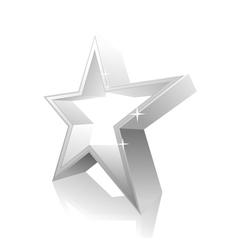 3d star white vector image