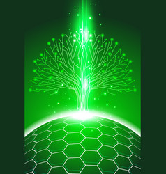 abstract background green 3 vector image