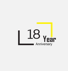 Anniversary logotype style with handwriting vector