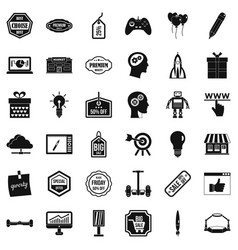 Big sale icons set simple style vector