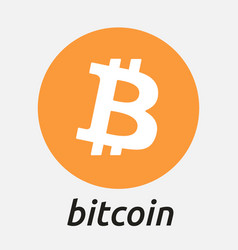 bitcoin blockchain criptocurrency logo vector image