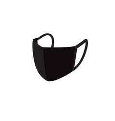 Black face mask icon design vector