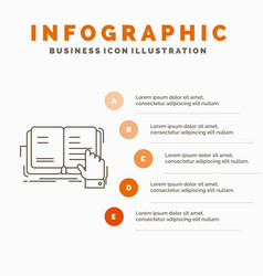 book lesson study literature reading infographics vector image