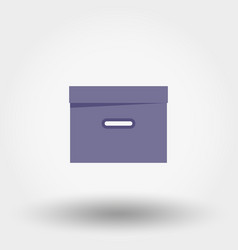Box organizer for files documents vector