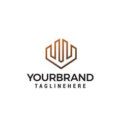building letter w logo design concept template vector image