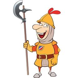 Cartoon knight vector