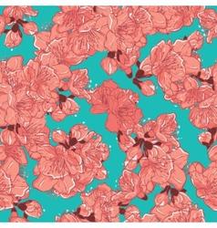 Cherry blossom sakura seamless pattern vector image