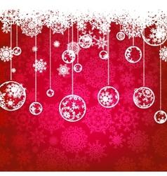 christmas card winter vector image