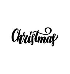 Christmas handwritten lettering vector