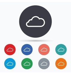 Cloud sign icon Data storage symbol vector image