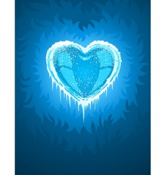cold icy heart vector image