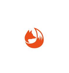 creative abstract fox logo vector image